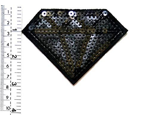 Cartoon-patch (Tap Tap Cartoon Patches Diamond Jewelry Aufnäher/Aufnäher mit Pailletten in Schwarz für Kinder/Kinder)