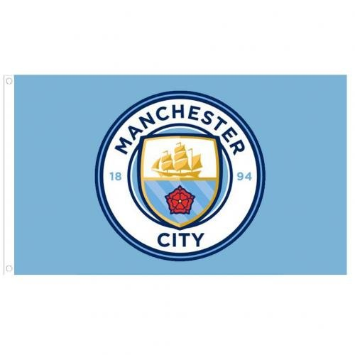 Manchester City Football Club Official Large Flag Big Crest Game Fan Banner