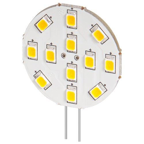 5er Set LED Einbaustrahler 2 W Sockel G4, ersetzt 20 W, 170 Lumen warm-weißes Licht mit 2800 K 170 Lumen-led