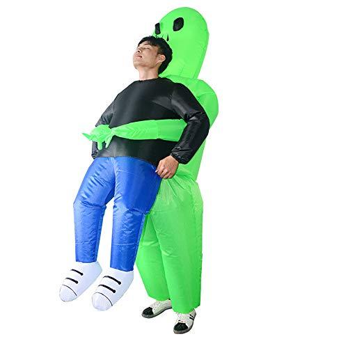 Aufblasbare Grün Lustige Kostüm - Aufblasbare Kostüme Halloween Parodie Green Ghost Hugs Air Suits Lustige Explosion Kostüme Grüne Geist Kuschelig Lustige Aufblasbare Anzug Modelle Parodie Leistung Kleidung
