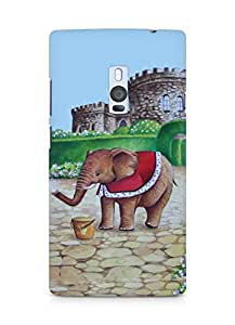 Amez designer printed 3d premium high quality back case cover for OnePlus Two (Elephant prince)