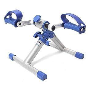 BookCycle Pedaliera Pedal Trainer Mini Cyclette per Riabilitazione Pieghevole(Blu)
