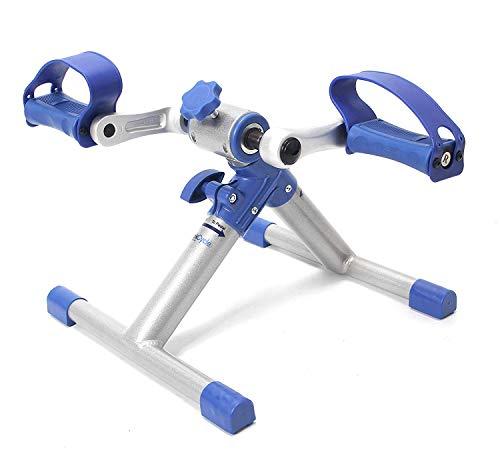 Mini Fahrrad Pedaltrainer für Arm- und Beintrainer Heimtrainer Faltbare(Blau)