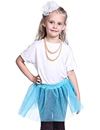 3 Layers 1980s 80s Girls Kids Child Neon Flo UV Fairy Ballet Rara Rave Party Tulle Tutu Skirt Fancy Dress
