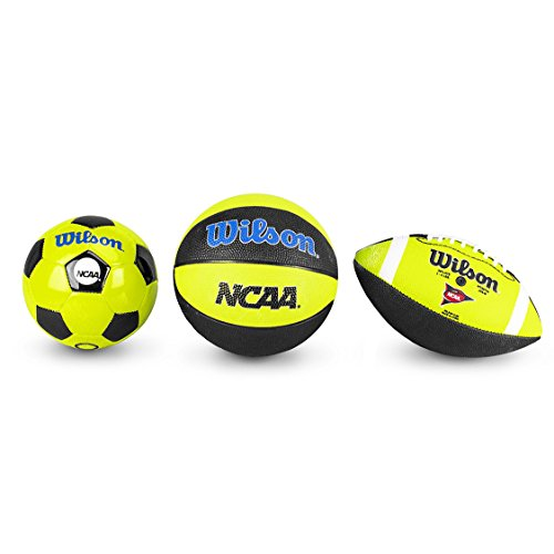 WILSON NCAA Triple Threat Fußball, Black/Yellow, Mini