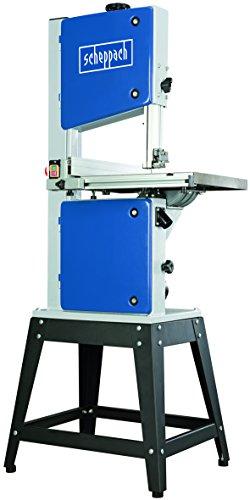 Scheppach Bandsäge HBS300 (750 W, Durchlasshöhe 175mm -breite 305mm, 45° schwenkbarer Arbeitstisch, Bandrad Ø 200mm, 2 Geschwindigkeiten: 720/360 m/min) inkl. Untergestell