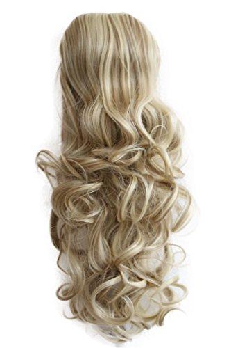 PRETTYSHOP 55cm Haarteil Zopf Pferdeschwanz Haarverdichtung Haarverlängerung VOLUMINÖS 55cm hellblond mix #24H613 PH26