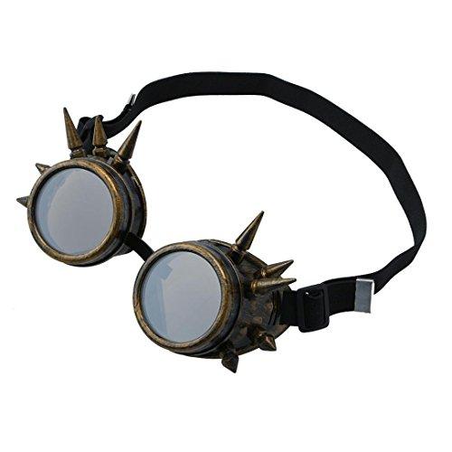 Gusspower Weinlese Viktorianische Steampunk Winddicht Goggles Gläser Schweißen Cyber Punk Gotische Cosplay Schutzbrillen (D) -