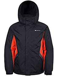 Mountain Warehouse Raptor Kids Snow Jacket - Snowproof Winter Coat, Fleece Lined Childrens Coat, Integrated Snowskirt - Perfect For Camping in Cold Weather
