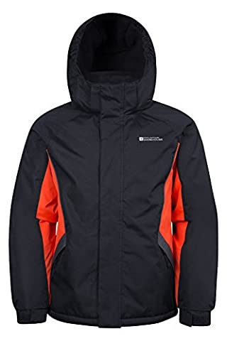 Mountain Warehouse Raptor Kids Snow Jacket - Snow Proof Fabric, Adjustable Cuffs with Fleece Lining (Giacca Con Cappuccio Pista)