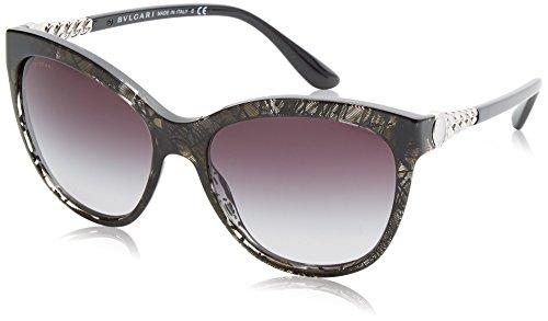 Bulgari Unisex-Erwachsene 8158 Sonnenbrille, Schwarz (Top Bluee On Havana), 57