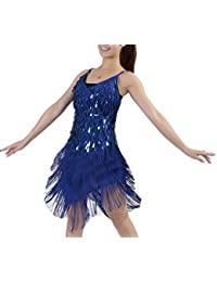 Mujer Salsa Tango Flamenco Baile Latino Elegante Vestidos de Baile