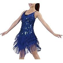 Mujer Salsa Tango Flamenco Baile Latino Elegante Vestidos de Baile 55a085811b49