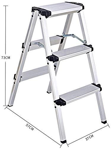ZWBD Simple Furniture/Aluminium Trittschemel Faltschritts Hocker Startseite Multifunktionsleiter Trittschemel (Size : 37 * 57 * 73CM)