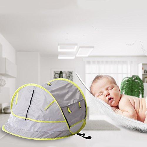 Faltbar Infant Mosquito Net Automatische Baby UV Zelt wasserdicht Sonne Schatten bewegliche Mückenschutz Zelt für Indoor Outdoor Travel, hellgrau