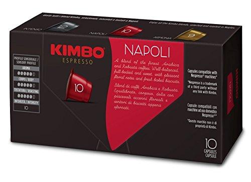 comprare on line Kimbo Capsule Napoli Compatibili Nespresso, 12 Astucci da 10 capsule (tot 120 capsule) prezzo