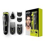 Braun 6-in-1 Multi-Grooming-Kit MGK3021, Barttrimmer und Haarschneider, Ohr- und Nasenhaartrimmer,...