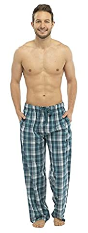 Strong Souls - Pantalon - Homme Bleu Teal Check grand