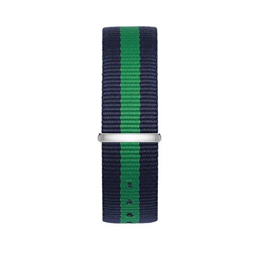 time100-cinturino-bicolore-nero-e-verde-perfetto-sostituito-materia-di-nylon-resistente-alla-sporciz