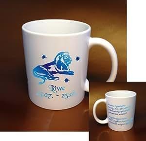 tasse à café Signe du zodiaque Löwe- tasse café, Tasse En Céramique en blanc avec couleur différente Motif, super Idée cadeau Pour Toute Occasion