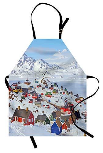 Abakuhaus agriturismo grembuıle da cucına, congelato inverno design, colore fisso altezza regolabile lavabile stampa chiara digitale, multicolore