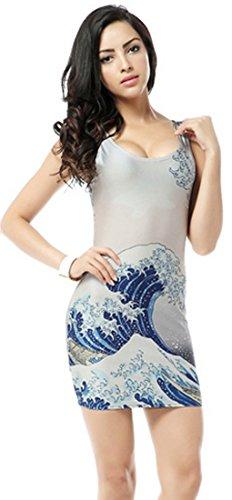 Thenice - Robe - Trapèze - Femme Pictograph Taille Unique Wave