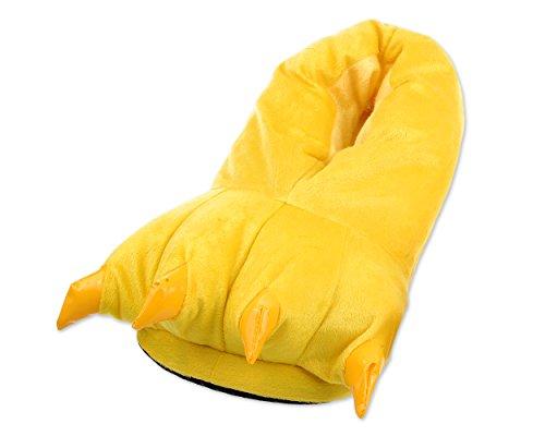 DSstyles Monster Claw Home Schuhe Neuheit Hausschuhe Herren Hausschuhe für Winter Indoor Damen Hausschuhe mit Tiere Tatze - Gelb (Herren Gelb Kostüm Stiefel)