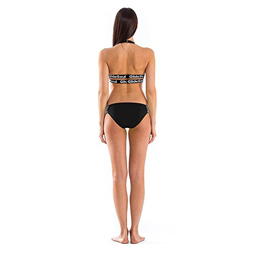GlideSoul Damen Signature Collection Low Bikini-Höschen Schwarz