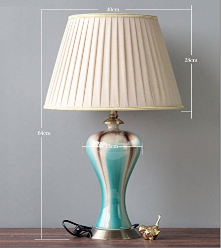 Price comparison product image MDRW-Continental American creative fashion warm living room bedroom Blue ceramic lamps