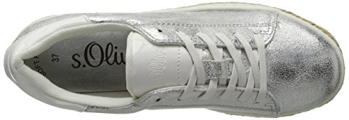 s.Oliver 23626, Sneakers Basses Femme Argent (SILVER 941)