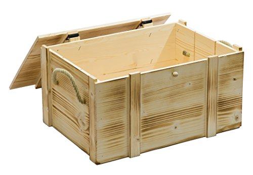 Weinkiste 6er geflammt inkl. Holzwolle / Holzkiste / Geschenkbox / Aufbewahrungsbox / Überraschungskiste / Weinbox / Hochzeitskiste (6er Weinbox) -