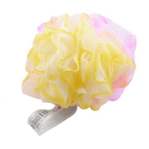 siempre-yung-fucsia-amarillo-malla-de-nylon-orificio-bola-de-bano-gel-de-bano-estropajo-esponja-duch