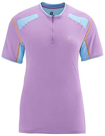 Salomon Ultra Trail Women's Half-Zip Short Sleeve Running T-Shirt - Medium