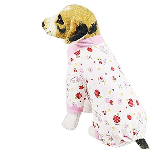 Hunde Shirts, Haustiere Hund T-Shirt,friendGG Haustier Hund Welpen Nachtwäsche Pyjamas Kleidung Overall Baumwolle Kleidung Kostüm