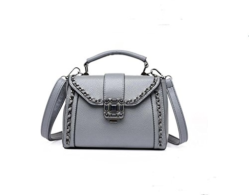 Versione Ms. Chao coreana della nuova borsa, prugna bloccare mini spalla, messaggero, catena zaino gray