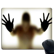 Rutschfeste Gummimausunterlage der Horrorportraitmausunterlage rechteckige Mausunterlage Computerlaptop