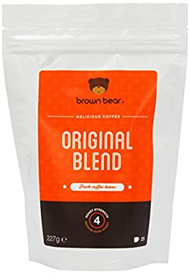 Brown Bear Original Blend Medium Dark Roast Whole Bean Coffee