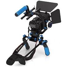 SunSmart DSLR Rig Kit Movie épaule Mont Rig + Follow Focus + Matte Box + Réglez la plate-forme + C Forme support Cage + Top Handle pour tous DSLR et vidéo Caméscopes
