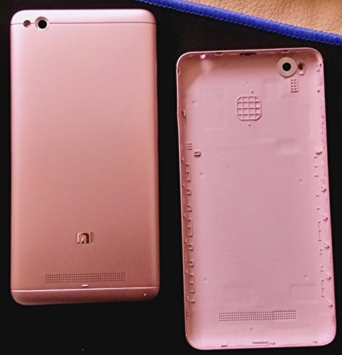 Backer The Brand Redmi Mi 4A Replacement PLASTIC Door Back Body Panel Cover WITHOUT CAMERA GLASS - Rose gold