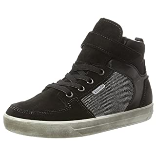 RICOSTA Mädchen Marle Hohe Sneaker, schwarz/Antra, 00038 EU