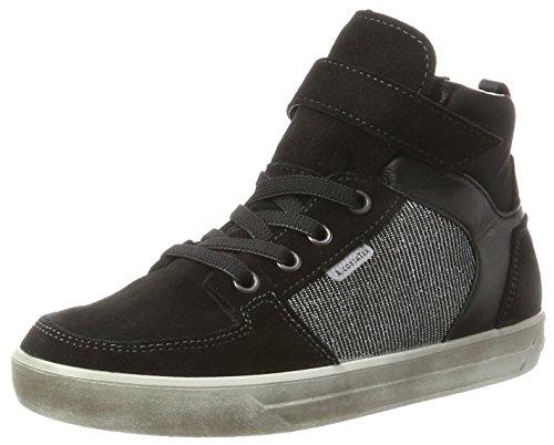 RICOSTA Mädchen Marle Hohe Sneaker, schwarz/Antra, 00037 EU