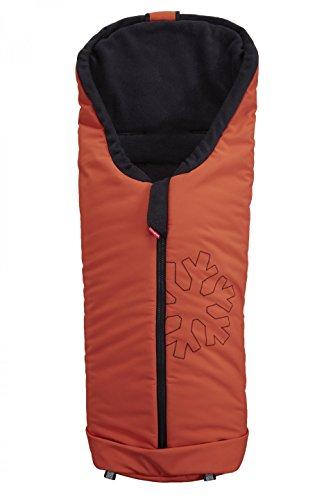 ByBoom Softshell Winterfußsack Thermo Aktiv für Kinderwagen und Buggy, Farbe:Orange/Schwarz