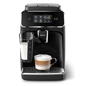 Philips Serie 2200 EP2231/40, Macchina da Caffè Automatica, 3 Bevande, con Macine in Ceramica, Filtro AquaClean, Caraffa LatteGo, Nero