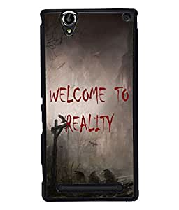PrintVisa Metal Printed Quotes Designer Back Case Cover for Sony Xperia T2 Ultra/ Ultra Dual-D4850