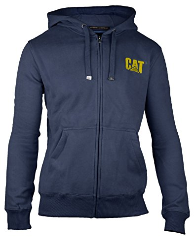 CAT Lifestyle - LOGO SWEATSHIRT - Blue - XXL - UK XXL EU / XXL UK (Fleece Hoodie Trim)
