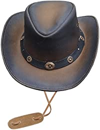 Black Jungle Lederhut Texaner Stonewash Cowboyhut Westernhut