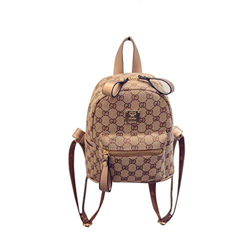 Vbiger Zaino in pelle PU Borsa a tracolla alla moda Maniglia Superiore Daypack con Cerniere a doppio senso per donne(Colore 1) Colore 1