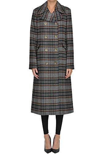 Oof Checked Print Double Breasted Coat Woman Multicoloured 44 IT -