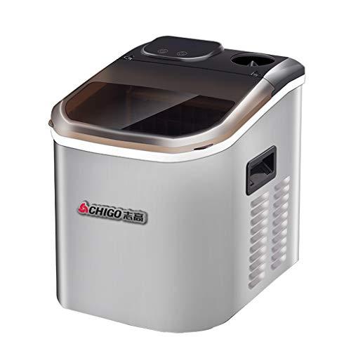 Lxn Máquina automática para hacer hielo - Máquina portátil para fabricar hielo en la parte superior - Produce 55 libras de hielo por 24 horas - Cubo de hielo cuadrado