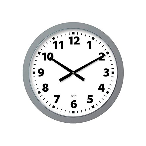 Orium 11716 Quartz Horloge Géante Argent Diamètre 60 cm